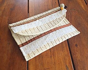 Straw Clutch/ Handmade Clutch/ handbag/ Natural Straw/ Summer Clutch