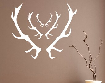 Stag Antlers Wall Stickers - Pack of 3 Antler Stickers