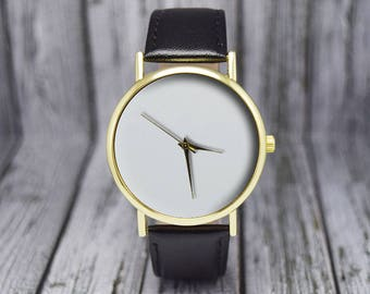 White Face | Minimalist | Classic Style | Leather Watch | Women's Watch | Men's Watch | Ladies Watch | Gift for Her | Gift Ideas | Accessory