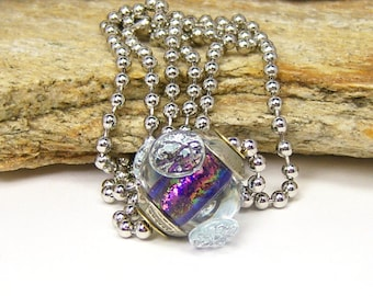 Lampwork Glass Charm Necklace