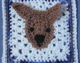 Kangaroo square - rugalugs crochet pattern