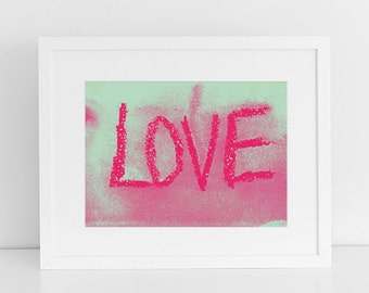 fine-art print poster URBAN LOVE