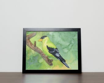 Goldfinch Print from Original Watercolor