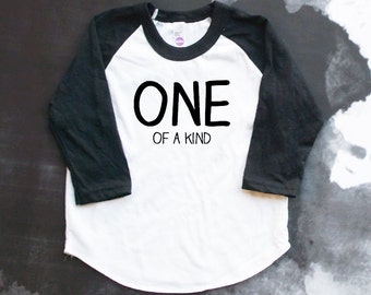 One of a Kind Baseball Shirt - First Birthday Outfit - Cake Smash Tee - One Year Old Birthday - Birthday Shirt - 1st Birthday Party