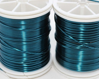 Blue Wire 18, 20, 22, 26 and 28 Gauge Jewelry Wire, Wire Wrapping, Craft Wire, 16/28/60/92/155 Feet Artisan Wires