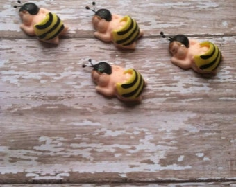 Bumble Bee Theme Baby Shower Embelishments Cupcakes Toppers