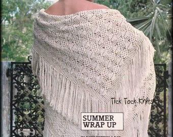 No.586 Shawl Crochet Pattern PDF Vintage - Women's Square Lace Shawl - Wrap Stole Thread Crochet 1970's Retro
