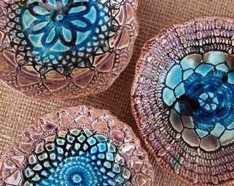 Serving Housewares decoration Wedding gift Ceramic lacy bowls set Hostess gift Home decoration