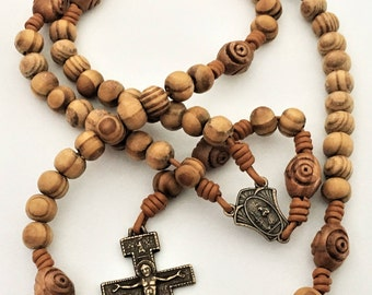 Franciscan Crown Olive Wood Rosary