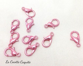 Pink x 10-12 x 7 mm metal snap fasteners