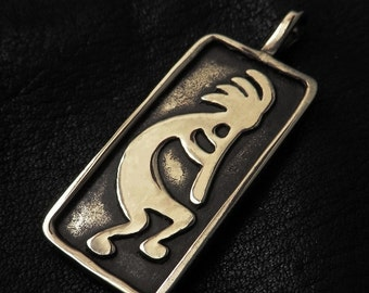 Bronze Kokopelli pendant