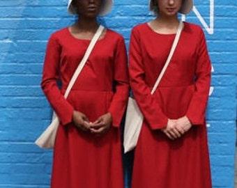 READY TO SHIP Handmaid's Tale Costume - Dress, bonnet, and bag