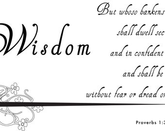 Wisdom Proverb 1.33 Instant Download Wall Art