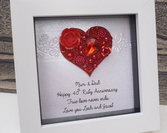 fortieth wedding anniversary gifts