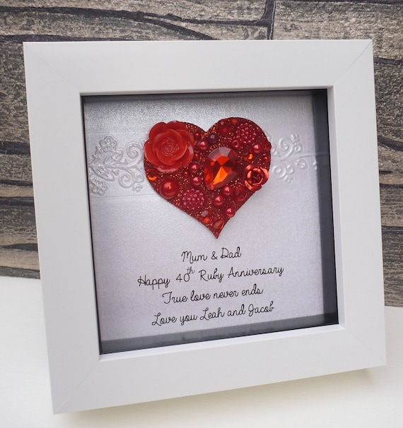 What Is The 40th Wedding Anniversary Gift: Ruby Anniversary Gift 40th Wedding Anniversary 40th