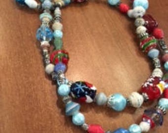 12/3 A Haitian and Christmas inspired necklace