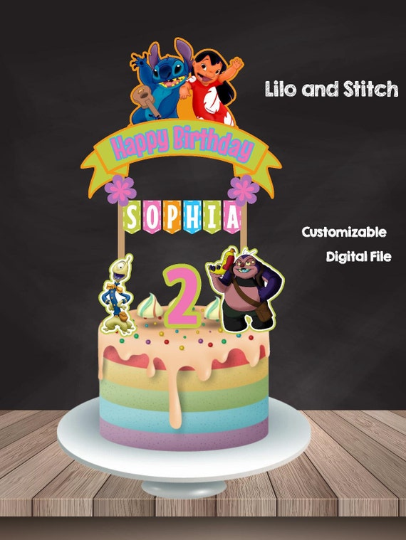 Lilo And Stitch Cake Topper Custom Topper Lilo And Stitch