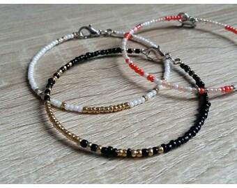 Dainty Memory Wire Seed Bead Bracelets