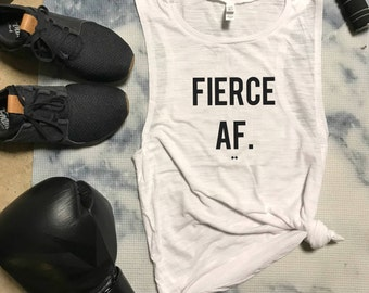 Fierce AF Funny Workout Tank, Gym Tank, Womens Workout Tank, Funny Workout Tank, Motivation Tank, Fitness Tank, Fierce Tank, Gym Motivation