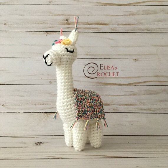Crochet Pattern Violet The Alpaca Amigurumi Doll Stuffed