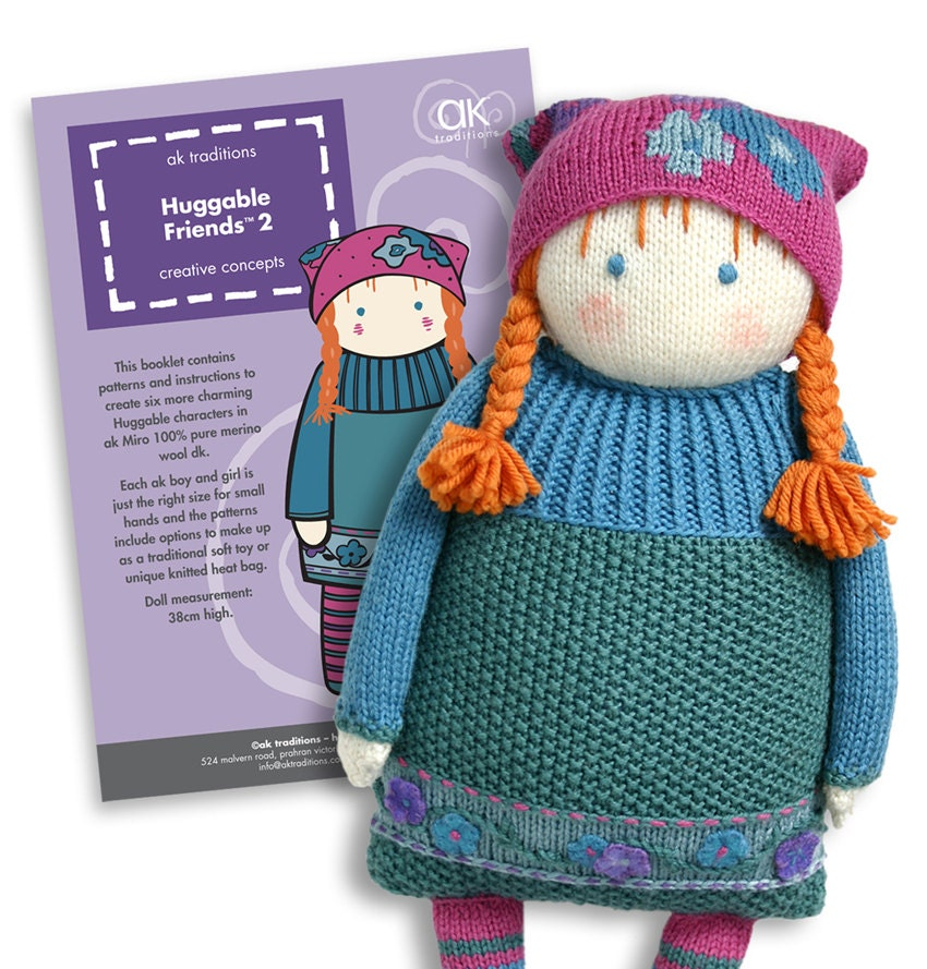 Huggable Friends 2 knitted doll pattern book