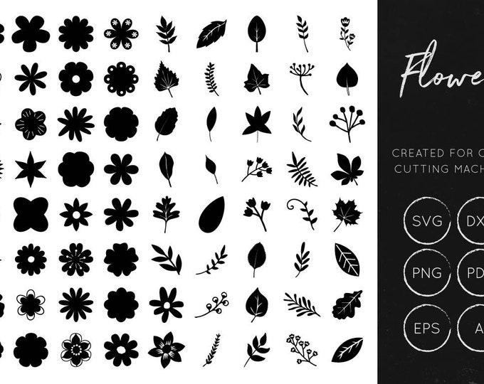 Vector Flowers SVG Bundle