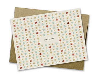 Thank You Card with Dot Pattern