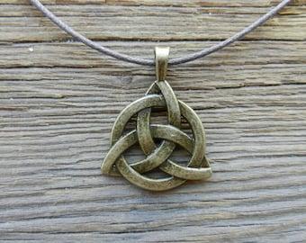 Male necklace etsy mens necklace triquetra bronze celtic pendant male necklace spiritual necklace celtic symbol mozeypictures Gallery