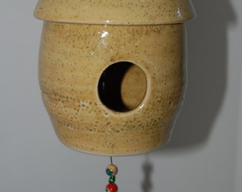 Pottery bird house. Ceramic bird house. Bird house.