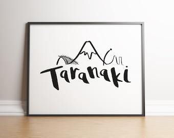 Taranaki NZ Print