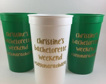 Bachelorette Party Cups - Personalized Bachelorette Cups - Party Favors