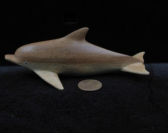 Carved Wooden Dolphin  Hand Carved    MicronesianArt