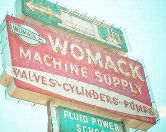 Dallas Texas Neon Sign Vintage Retro Roadside - Fine Art Photograph - Machine Supply