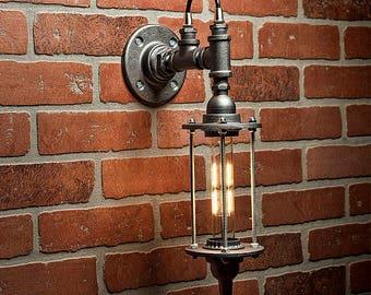 Pipe Light - Lighting - Pipe Sconce Light - Steampunk Lighting - Bathroom Light - Industrial Light - Wall Light - Sconce - FREE SHIPPING