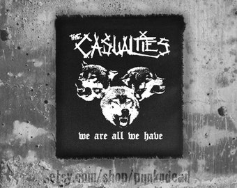 The Casualties patch • punk patch • back patches • punk fashion • punk clothing • punk aufnäher • skull • punk accessories • sew on patches