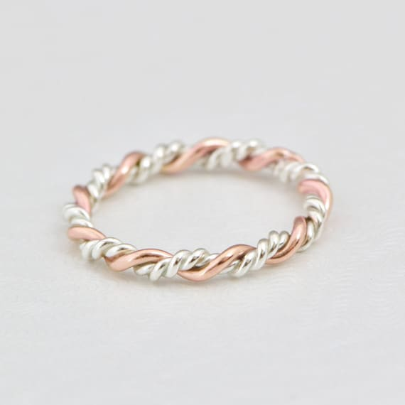 silver rings forever metals infinity braided