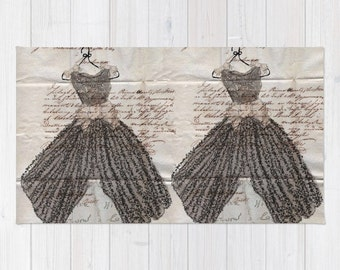 Rug, French Script and Little Black dresses