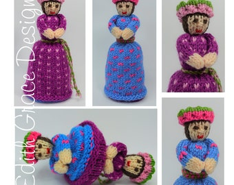 Doll Knitting Pattern - Knit Doll - Upside Down Doll - Toy Knitting Pattern - Doll Making - Fair Isle Knitting - Rag Doll - Amigurumi Toy