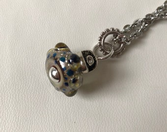 Handmade Lampwork Glass Necklace - While You Were Sleeping
