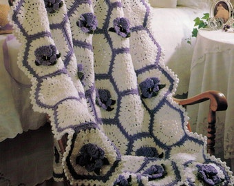 PDF Crochet Afghan Pattern Lap Afghan Pattern Throw Pattern