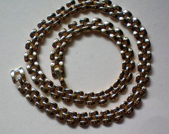 Petite Gold tone Chain Link Necklace - 5408