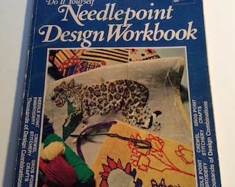 Vintage 1972 Do It Yourself Needlepoint Design Workbook