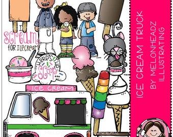 Ice Cream Truck clip art - COMBO PACK