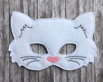 Cat Mask - Dress Up,  Costume, Pretend Play, Photo Props, Party Favours, felt mask