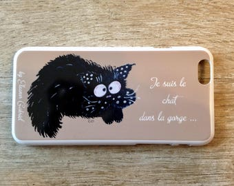 With funny cat Iphone 6 case