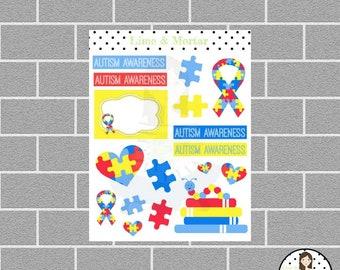 Autism Awareness Planner Stickers