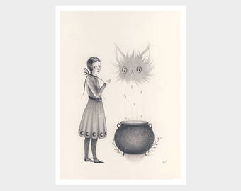 Betwixt - Archival mini print by Amy Earles