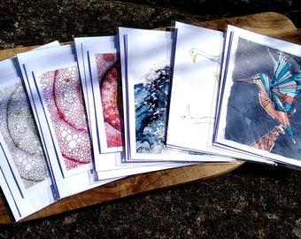 Custom Pack of 6 Greetings Cards