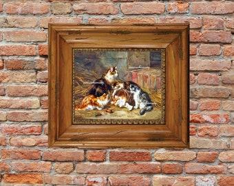 Child's Room Art, Bedroom Art, Family Room Art, Cat and Kittens ArtPrint #129