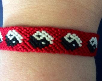 Yin Yang Friendship Bracelet - Made To Order - Handmade Woven Bracelet - Macrame Bracelet - Adjustable Bracelets - Stackable Bracelets